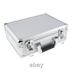 13 inches Mini Makeup Train Case with 2 Safe Locks (Silver)
