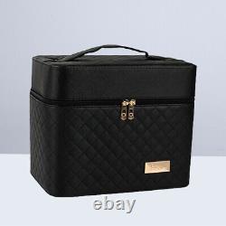1PC 2 layer Makeup Case Large Professional Cosmetic Box Artist Box Train Case