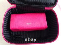 (2) Victoria's Secret Train Case Duo Each WithMakeup Bag 2 Zippered Sections NWT