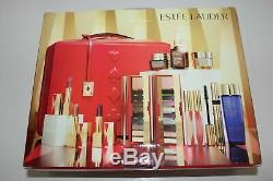 2019 Estee Lauder Blockbuster Holiday Make Up Gift Set withTrain Case Cool MACYS