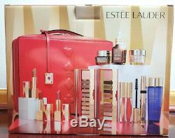 2019 Estee Lauder Blockbuster Holiday Make Up Gift Set withTrain Case Warm
