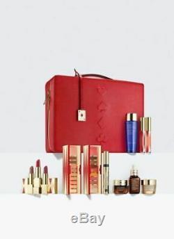 2019 Estee Lauder Blockbuster Holiday Make Up Gift Set withTrain Case Warm $455Val