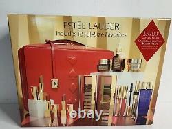 2020 Estee Lauder Blockbuster Holiday Make Up Gift Set Train Case COOL 12PC New