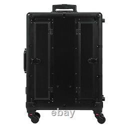 2in1 Rolling Makeup Case Trolley Train Box Beauty WithKey Interchangeable Cosmetic