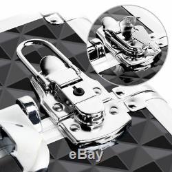 360-Degree Rolling Aluminum Rotating Castors Makeup Train Cosmetic Case Trolley