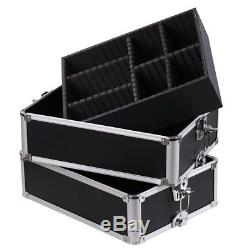 AW 2in1 Rolling Aluminum Makeup Artist Cosmetic Train Case Box