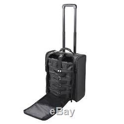 AW Rolling Makeup Train Case Soft Side Makeup Cosmetic Organize Carry on Travel