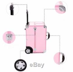 Aluminum Beauty Train Case Cosmetic Storage With Inner Tray Make Up Trolley Bag