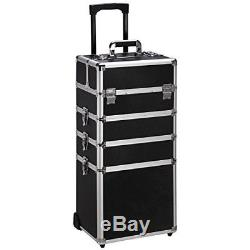 Aluminum Rolling Cosmetic Makeup Train Cases Trolley for Artist Organizer Box