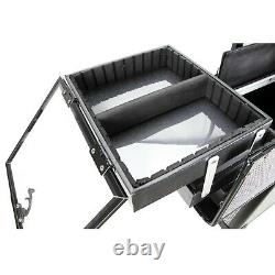 Aluminum Trimming Professional Cosmetic Rolling Makeup Case Trays by Ver Beauty