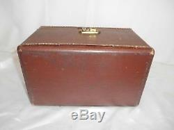 Antique LUCE WOOD SUITCASE TRAIN CASE Luggage Make-Up Travel Bag Doll Trunk Old