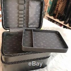 Authentic Dior Parfums Beauty Train Case Make Up Bag Black