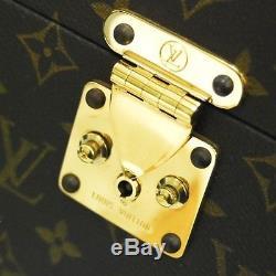 Authentic LOUIS VUITTON Vintage Monogram Cosmetic Makeup Bag Train Case M23570