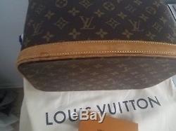 Authentic Louis Vuitton Monogram Vanity Makeup Bag Train Case Makeup Pouch NICE