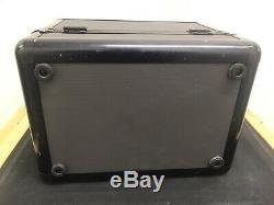 Authentic MAC Pro Cosmetic Vintage / Retired Makeup Train Case Black & Gray
