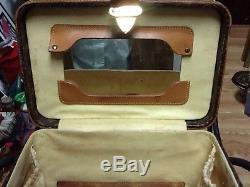Authentic Vintage LOUIS VUITTON Beauty Train Cosmetic Vanity Case purse hand bag