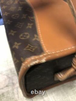 Authentic Vintage Louis Vuitton Monogram CarryOn Train Case Makeup Signs Of Wear