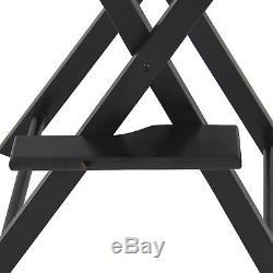BCP Foldable Lightweight Professional Makeup Artist Directors Chair Black