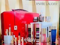 BIN 2019 Estee Lauder Blockbuster Holiday Make Up Gift Set Train Case
