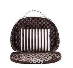 BRAND NEW HENRI BENDEL centennial signature stripe cosmetic hatbox traincase