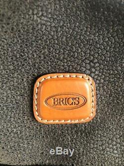 BRICS Luggage Life Collection cosmetic train case, leather, Olive green NWOT