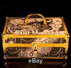 Beautiful Kat Von D 10 Year Anniversary Train Case -SOLD OUT- KVD Gold-Makeup