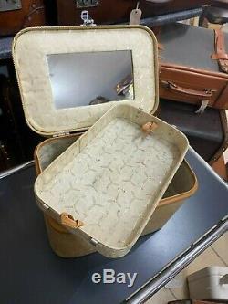 Beautiful watajoy vanity beauty cosmetic train case / travel bag sold in harrods