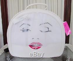 Betsey Johnson Train Case Weekender Bride Marilyn Monroe Travel Cosmetic NWT