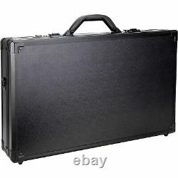 Black Matte Professional Barber Portable Travel Split Case withBrush and Combs