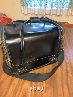 Bobbie Brown Leather Black Make Up Train Case