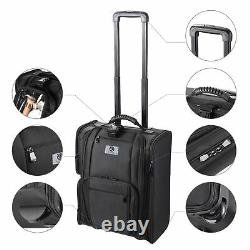 Byootique Rolling Makeup Train Case Soft Side Makeup Cosmetic Organize on Travel