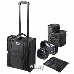 Byootique Rolling Soft Makeup Train Case Side Makeup on Travel Cosmetic