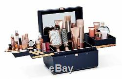 Caboodles Life & Style Large Train Case, Makeup Cosmetic Travel Organizer Silver