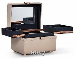 Caboodles Life & Style Small Train Case Makeup Cosmetic Case Organizer Small