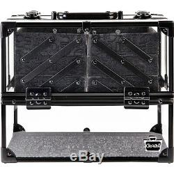 Caboodles Neat Freak 6-Tray Train Case Clear with Toiletry Kit NEW