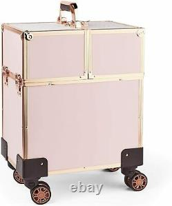 Case Travel Cosmetic Rolling Beauty Makeup Box Trolley Train Bag Suitcase MUA