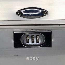 Classic Halliburton Zero Cosmetic Train Case Gold Aluminum Excellent Condition