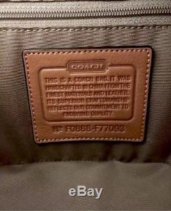 Coach F77093 Mini Signature Train Case Toiletry Cosmetic Bag Khaki RARE FIND