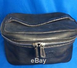Coach Vintage Black Leather Train Case Cosmetic Travel Toiletry Bag G04S-5067