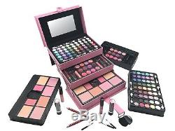 Complete Full Makeup Starter Kit Beauty Train Case Cosmetic Set Gift For Women