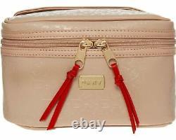 DKNY Escape Train Case/Cosmetics Bag Vanity Case in Petal Pink