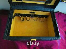 DOONEY & BOURKE TRAIN CASE, Vanity Make Up Case Handbag Fabulous RARE