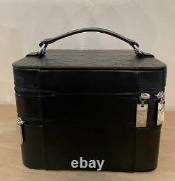 Dior Beauty Large Top Handle Makeup Train Case with 2 Comparments Black