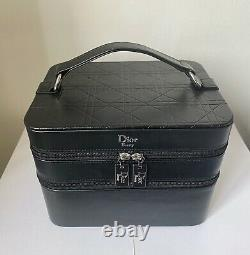Dior Beauty Large Top Handle Makeup Train Case with 2 Comparments NEW