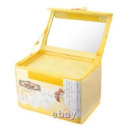 Disney Store Japan Beauty Beast Princess Belle Crystal Cosmetic Train Case Box
