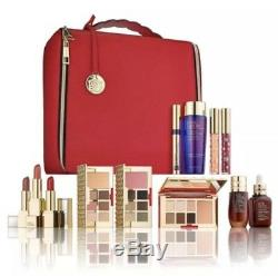 ESTEE LAUDER 2018 Holiday Blockbuster 12Pc MakeUp Cosmetic Train Case Warm $440