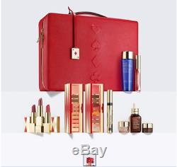 Estee Lauder 2019'Blockbuster' Red train case with 30 Beauty Essentials New