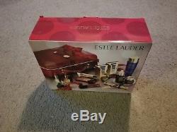 Estee Lauder Blockbuster 2017 Holiday Make Up Gift Set withTrain Case Smoky Noir