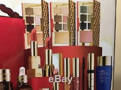 Estee Lauder Blockbuster 2018 Holiday MakeUp Gift Set withTrain Case 100%Authentic