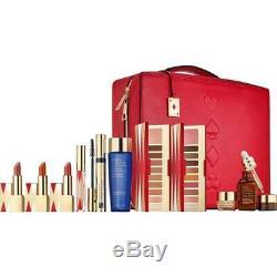 Estee Lauder Blockbuster Holiday Make Up Gift Set Train Case WARM 11PC